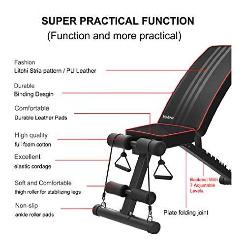 Adjustable Weight Bench And Set - dilutee.com