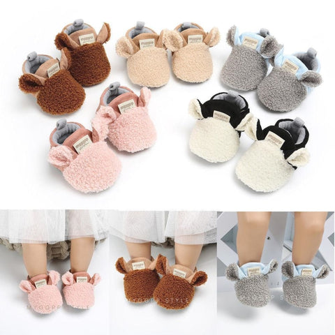 Baby animal ear shoes by dilutee