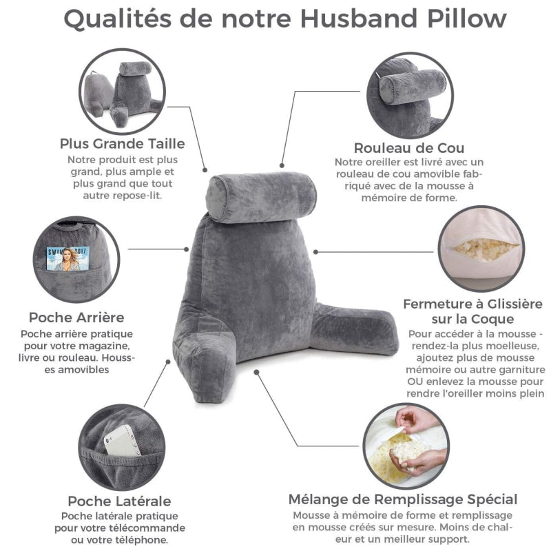 Backrest Pillow With Arms - dilutee.com