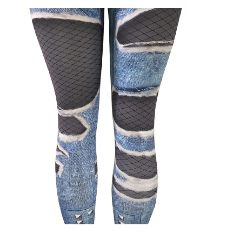 Breathable Realistic Jeans Leggings - dilutee.com
