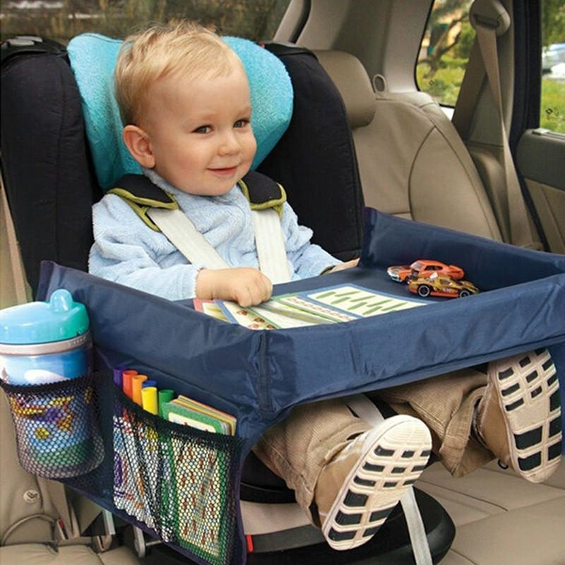Waterproof Toddler Car Seat Travel Tray Snack Play & Learn Tray - Dilutee.com
