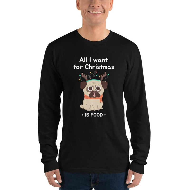 Christmas T Shirt With Funny Pug