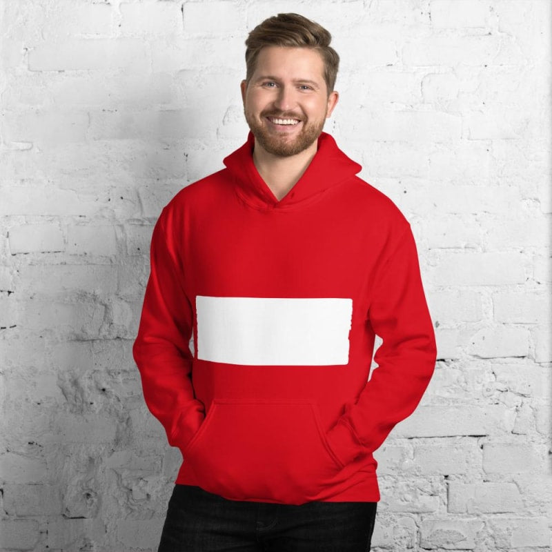 Classic Red and White Striped Long Sleeve Sweatshirt