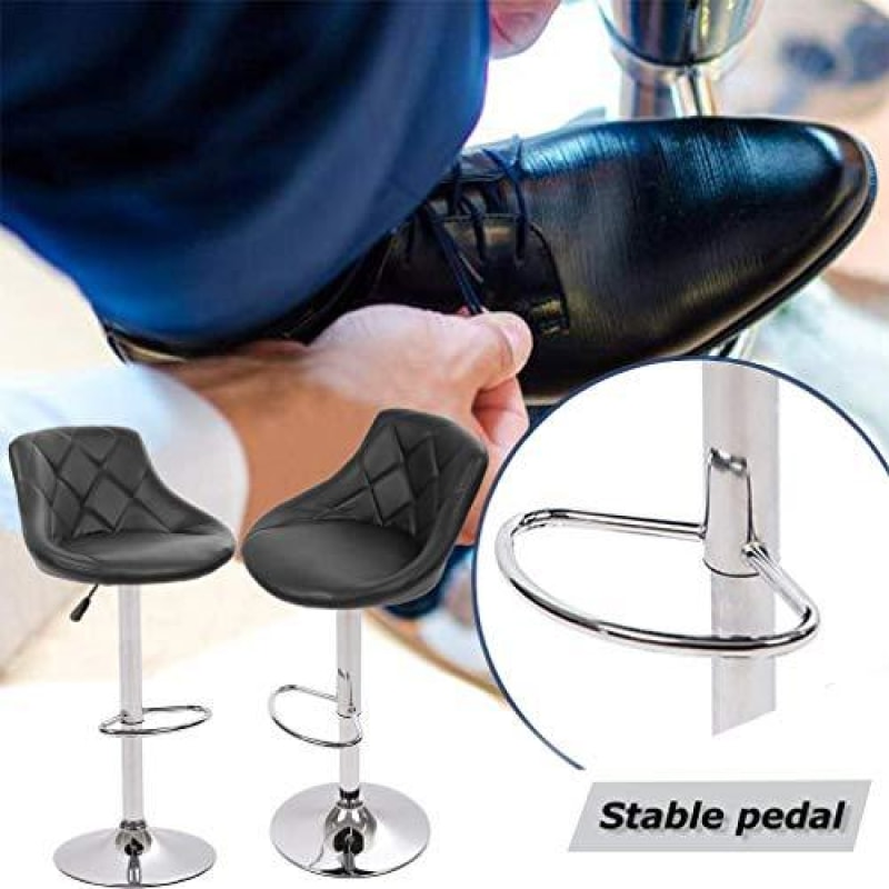 Counter Height Bar Stools Set of 2 Barstools Swivel Stool Height Adjustable Bar Chairs with Back PU Leather Swivel Bar Stool Kitchen Counter
