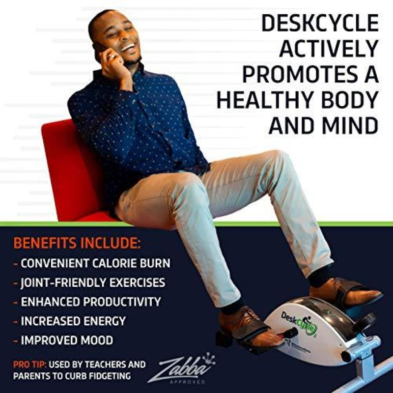 DeskCycle 2 Under Desk Cycle,Pedal Exerciser - Stationary Mini Exercise Bike -Office Home Equipment - Adjustable Legs - dilutee.com