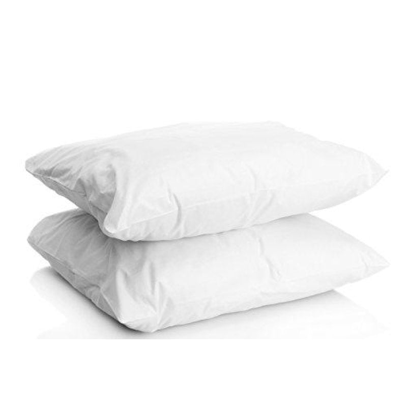 Digital Decor Set of Two 100% Cotton Hotel Down-Alternative Made in USA Pillows - Three Comfort Levels! (Standard Gold/Medium) - dilutee.com