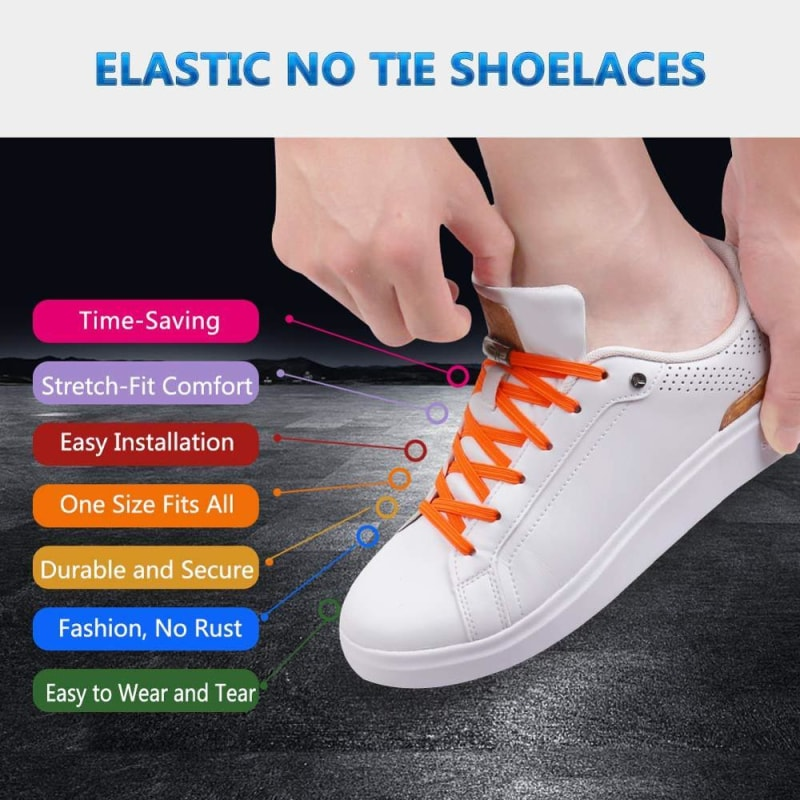 Elastic No Tie Shoelaces With Magnetic Buckle - dilutee.com