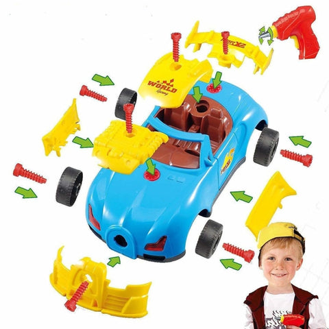 Electric Drill Race Car Set - dilutee.com