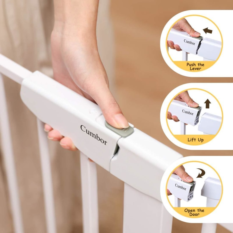 Extra Wide Pressure Mounted Baby Gate - dilutee.com
