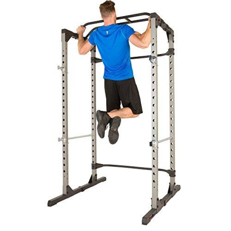 Fitness Reality 810XLT Super Max Power Cage with Optional Lat Pull-down Attachment and Adjustable Leg Hold-down Power Cage Only -