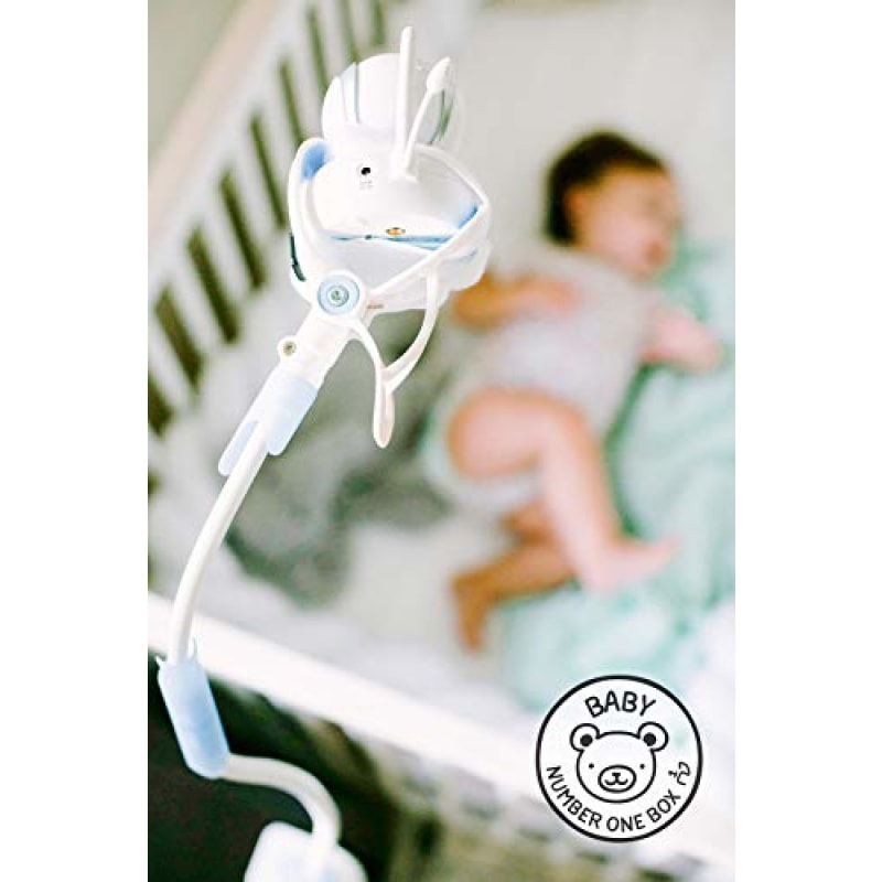 FlexxiCam | Universal Baby Monitor Holder with Strap | Flexible Baby Camera Mount Shelf | No Drilling | A Safer Monitor Stand for Your Baby