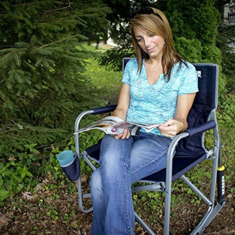 GCI Outdoor Freestyle Rocker Portable Folding Rocking Chair Indigo - dilutee.com