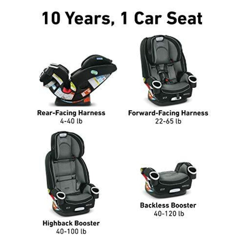 Graco 4Ever DLX 4 in 1 Car Seat | Infant to Toddler Car Seat with 10 Years of Use Fairmont - dilutee.com