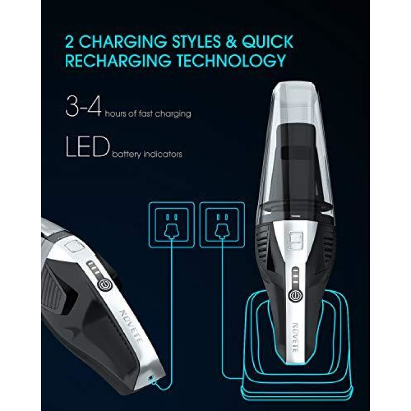 Hand Vacuum with Detachable Battery - dilutee.com