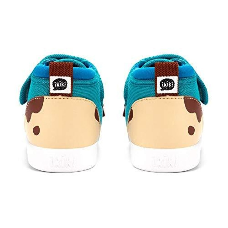 ikiki Dog Squeaky Shoes for Toddlers w/Adjustable Squeaker Teal Girl or Boy Shoes (Size 5 Mr Barkles) - dilutee.com