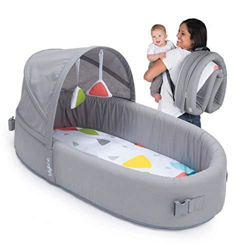 Lulyboo Bassinet To-Go Infant Travel Bed - Baby Lounge Backpack - Combines Crib Playpen and Changing Station Metro - dilutee.com