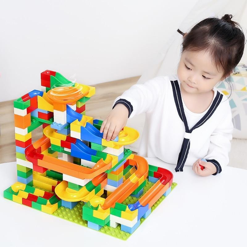 Marble Race - Roller Coaster Building Blocks Kit - dilutee.com