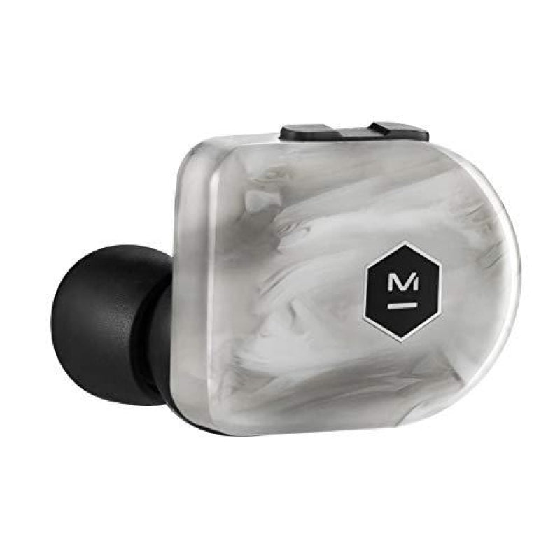 Master & Dynamic MW07 Plus True Wireless Earphones - Noise Cancelling with Mic Bluetooth Lightweight in-Ear Headphones - White Marble -