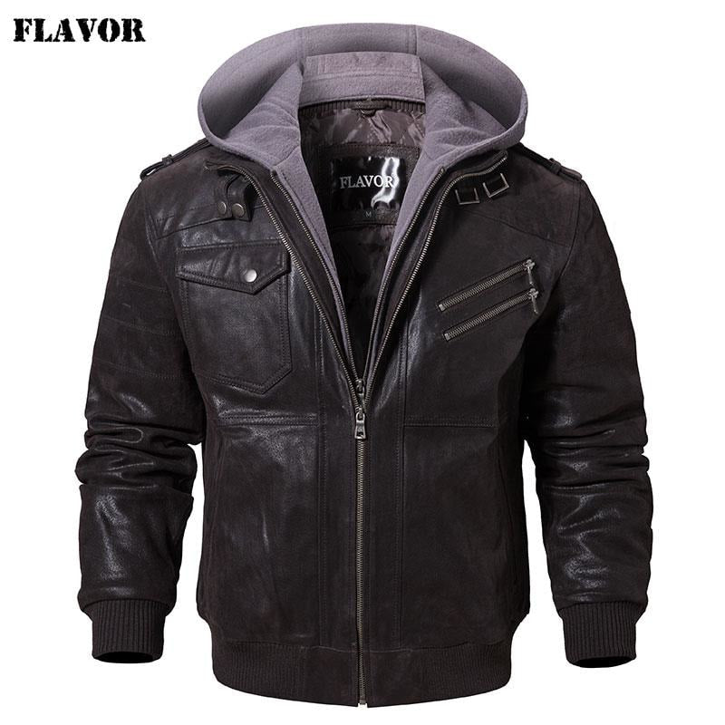 Men's Warm Genuine Leather Jackets - dilutee.com