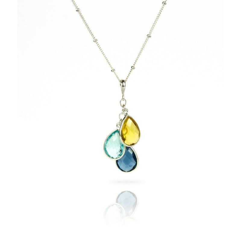Mothers Necklace with Birthstones - dilutee.com