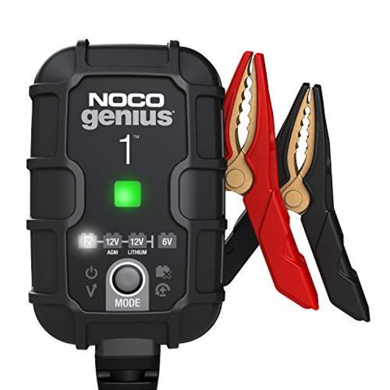 NOCO GENIUS1 1-Amp Fully-Automatic Smart Charger 6V And 12V Battery Charger Battery Maintainer And Battery Desulfator With Temperature