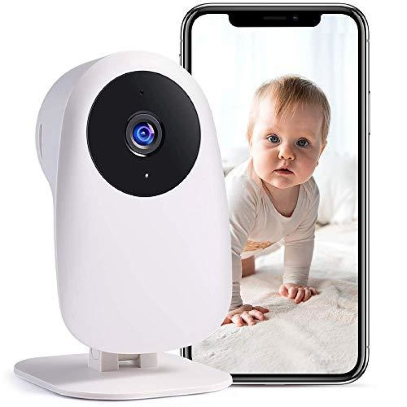 Nooie Baby Monitor with Camera and Audio 1080P Night Vision Motion and Sound Detection 2.4G WiFi Home Security Camera for Baby Nanny and