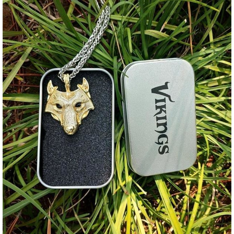 Norse Wolf Head Necklace - Dilutee.com