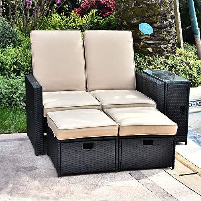 Outdoor Loveseat With Cushions - dilutee.com