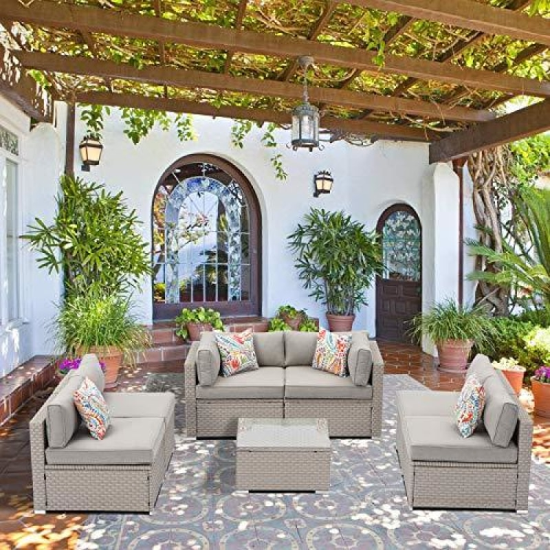 Outdoor Wicker Sofa Set - dilutee.com