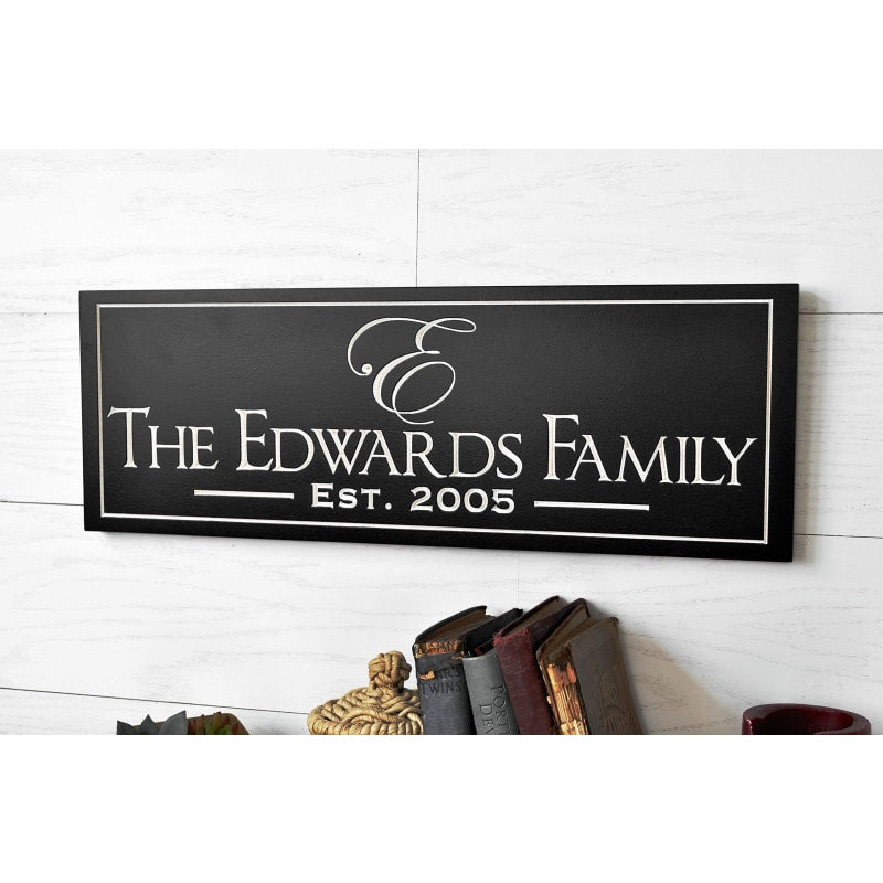 Personalized Family Sign Board - dilutee.com