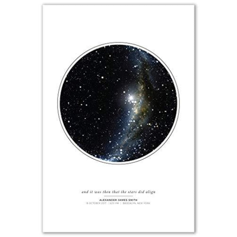 Personalized Night Sky Star Map Poster