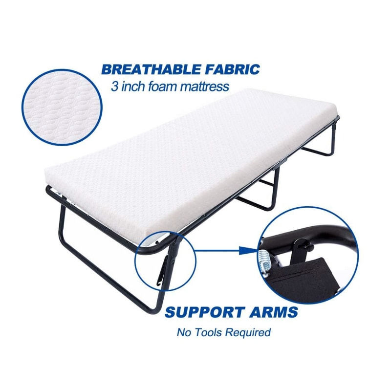 Portable Bed With Frame - dilutee.com
