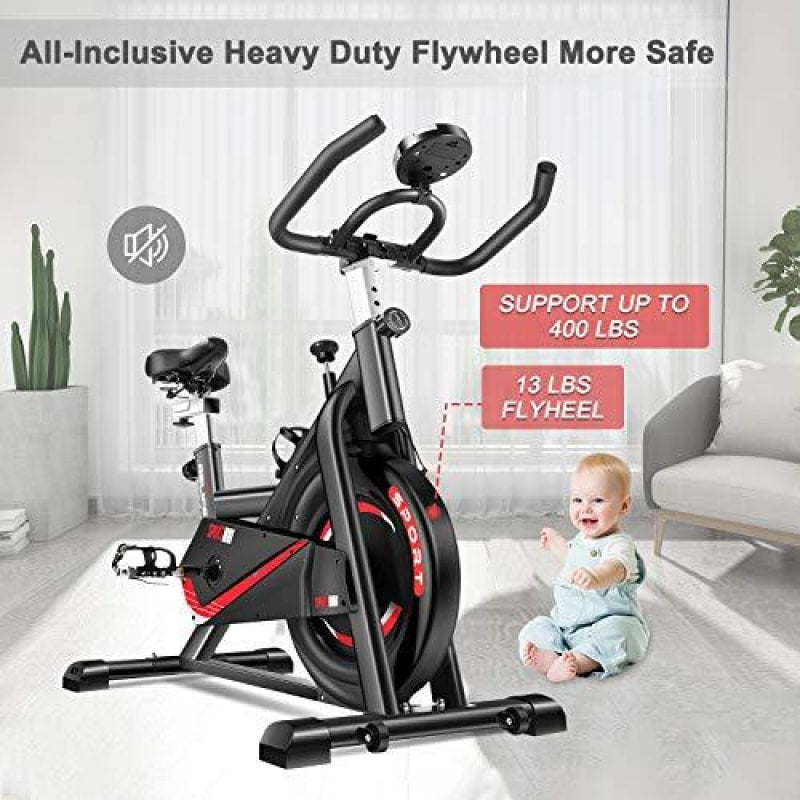 RELIFE REBUILD YOUR LIFE Exercise Bike Indoor Cycling Bike Fitness Stationary All-inclusive Flywheel Bicycle with Resistance for Gym Home