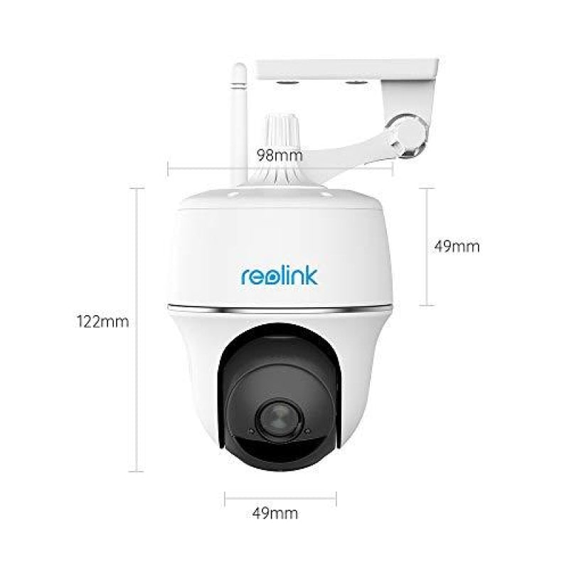 Reolink Argus PT w/Solar Panel - Wireless Pan Tilt Solar Powered WiFi Security Camera System with Rechargeable Battery Outdoor Home