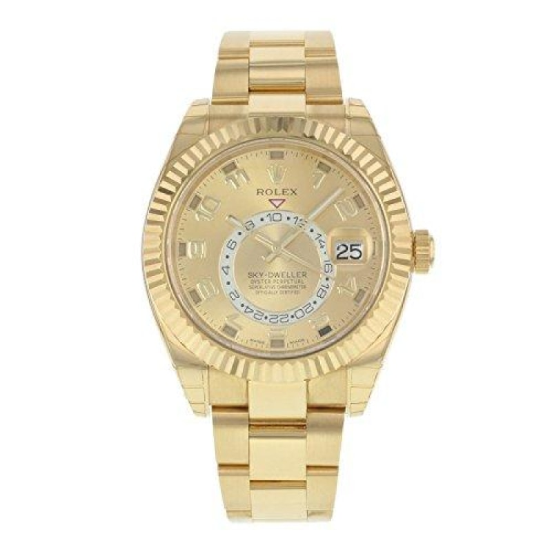 Rolex Sky Dweller Gold Watch