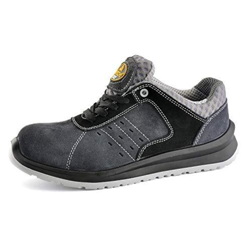 SAFETOE Men's Work Safety Shoes,Lightweight Sport Industrial and Construction Composite Toe Work Shoes,Gray,11 D(M) US/44EU - dilutee.com