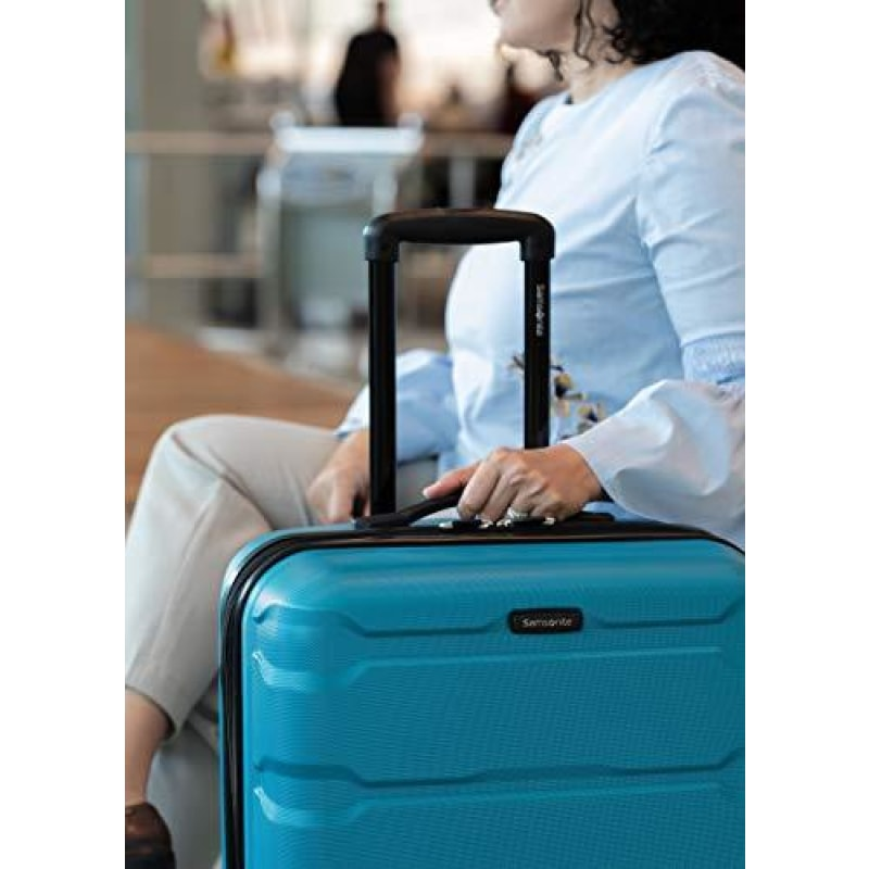 Samsonite Omni PC Hardside Expandable Luggage with Spinner Wheels Caribbean Blue Carry-On 20-Inch - dilutee.com