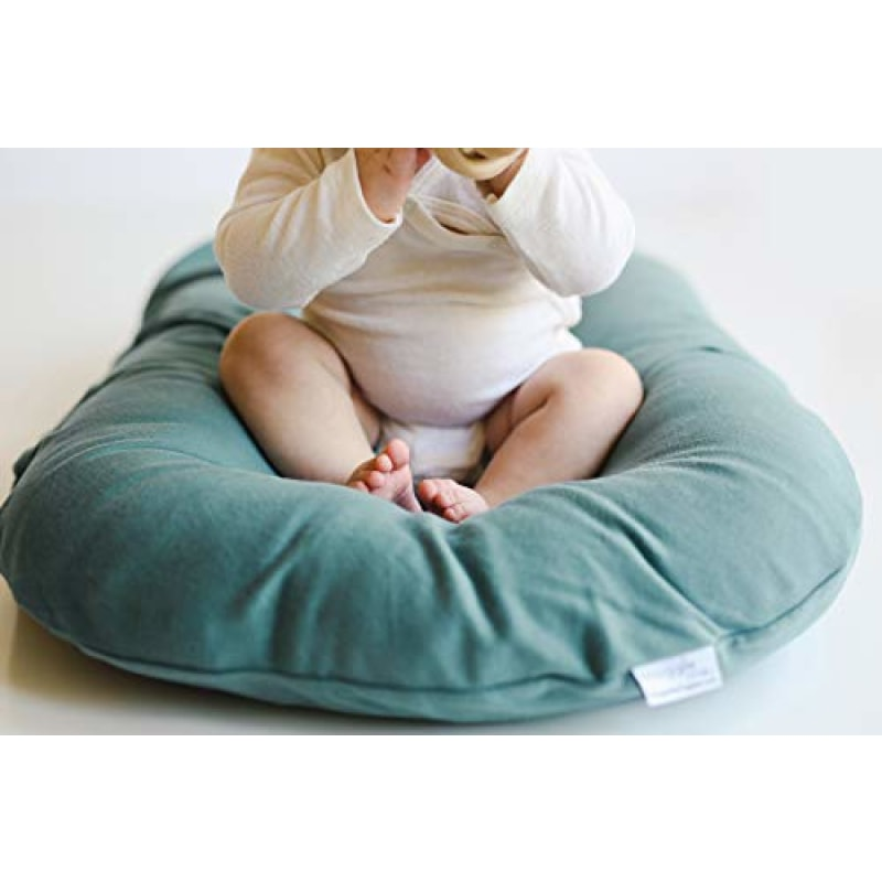 Snuggle Me Organic | Baby Lounger & Infant Floor Seat | Newborn Essentials | Organic Cotton Fiberfill | Moss - dilutee.com