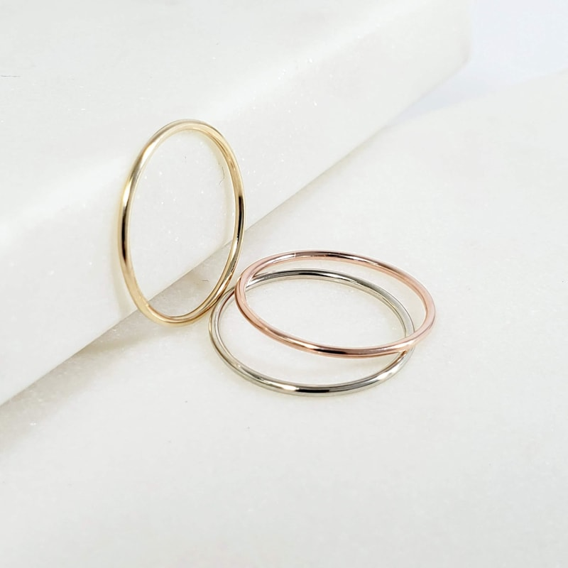 Solid Gold Stacking Ring - dilutee.com
