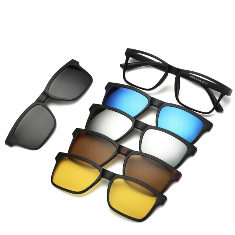 5 In 1 Magnetic Lens Swappable Sunglasses - Dilutee.com