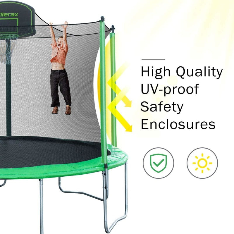 Trampoline With Basketball Goal - dilutee.com