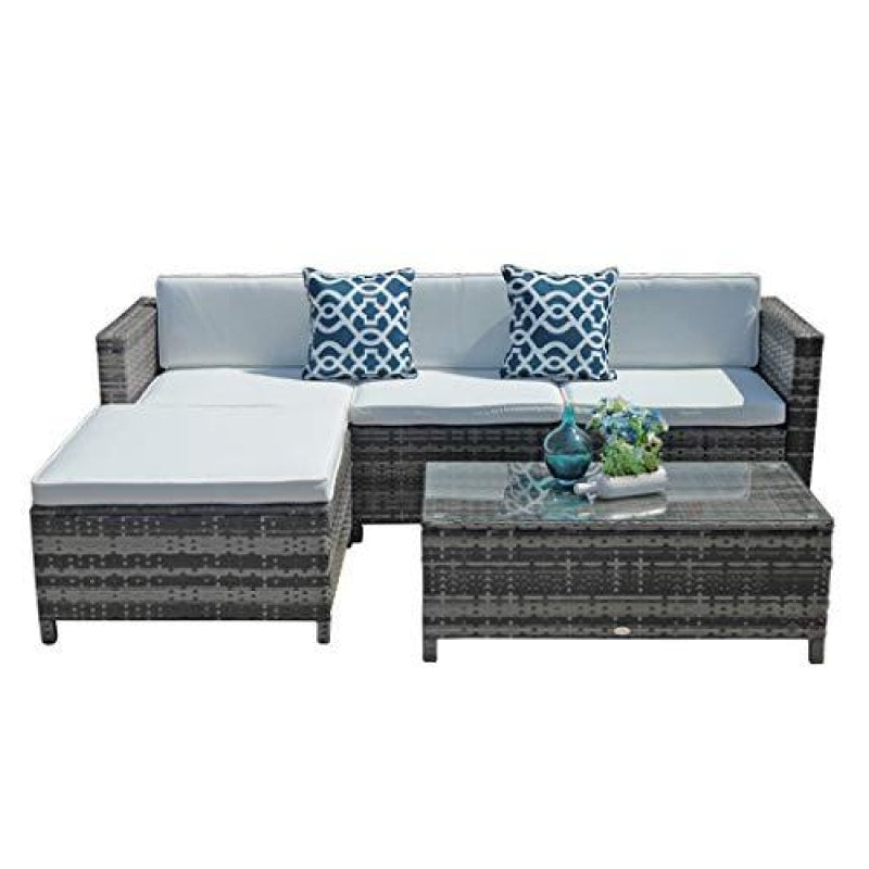 Wicker Patio Furniture Set - dilutee.com