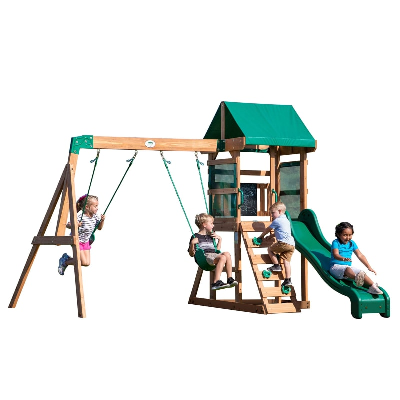 Wooden Swing Set for Kids