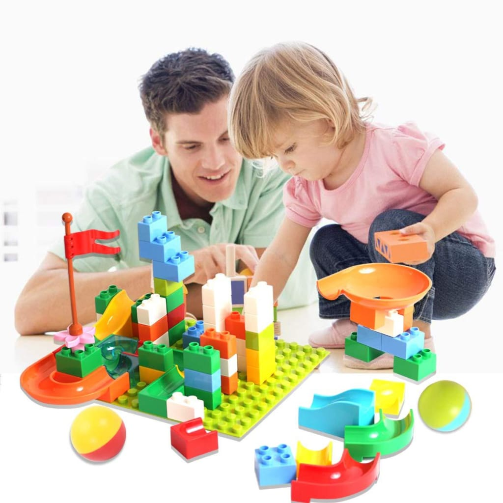 Marble Race - Roller Coaster Building Blocks Kit