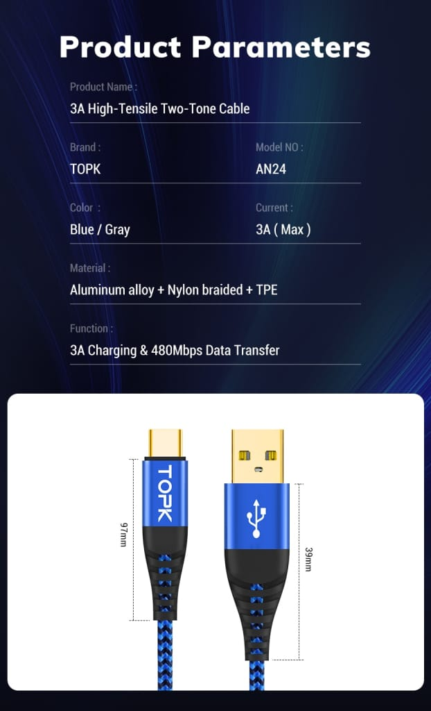Fast Charging Cable For Samsung