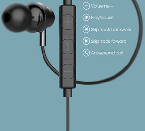 Supra Buds Stereo Wired Earphones Multi-function Wire Control  3.5mm In-Ear Music Earbuds With Mic
