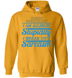 Music Specialist I'm Allergic Stupidity Hoodie