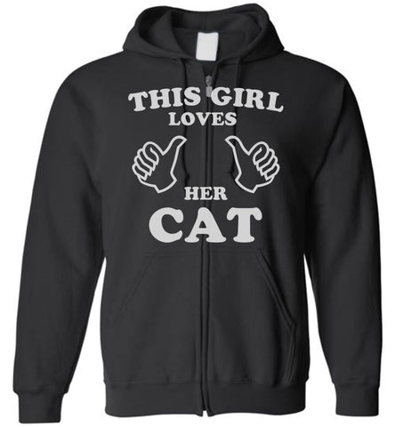 This Girl Loves Her Cat Zip Hoodies