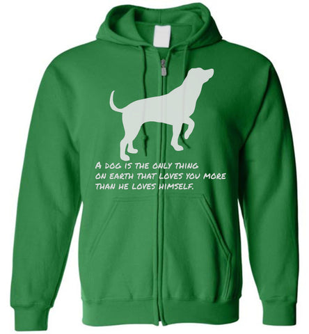 Dog Quote Zip Hoodie