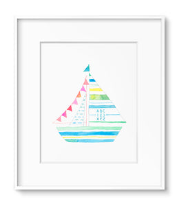 Sailboat: Pink Flags